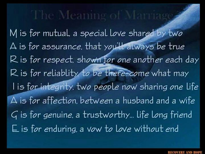 the meaning of marriage life and family marriage words