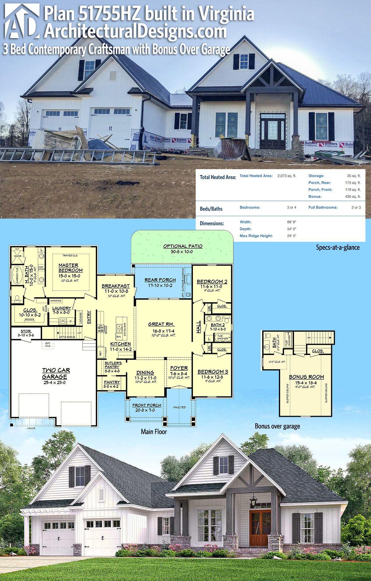 Architectural Designs House Plan 51755HZ under construction