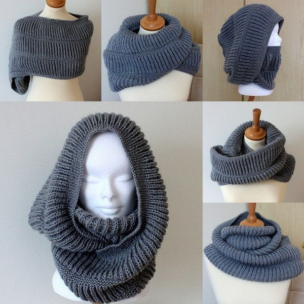 Knitting Pattern Oxford Hooded Cowl (pdf file) #golasdetrico