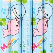 blue Mamegoma seals lucky clover pencil set 12pcs from Japan