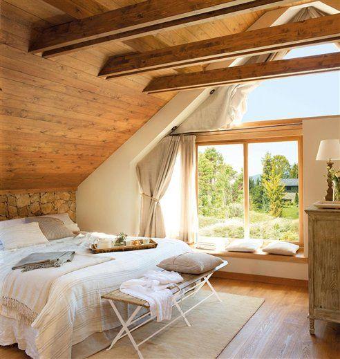 20 dormitorios r sticos con mucho encanto for Dormitorios matrimoniales rusticos