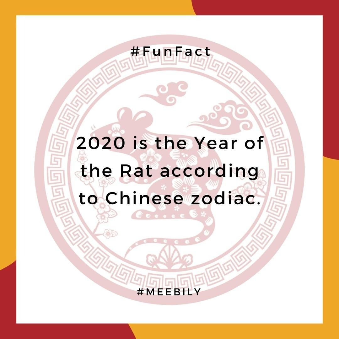 2020 is a year of the Rat, starting from January 25th