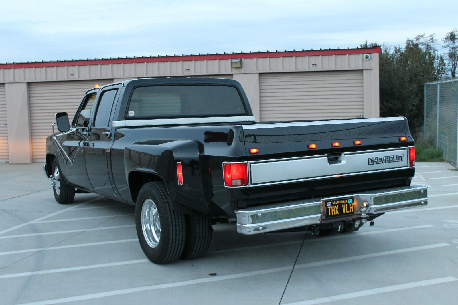 All Blacked Out 1984 Chevrolet C30 Silverado Crew Cab Pickup