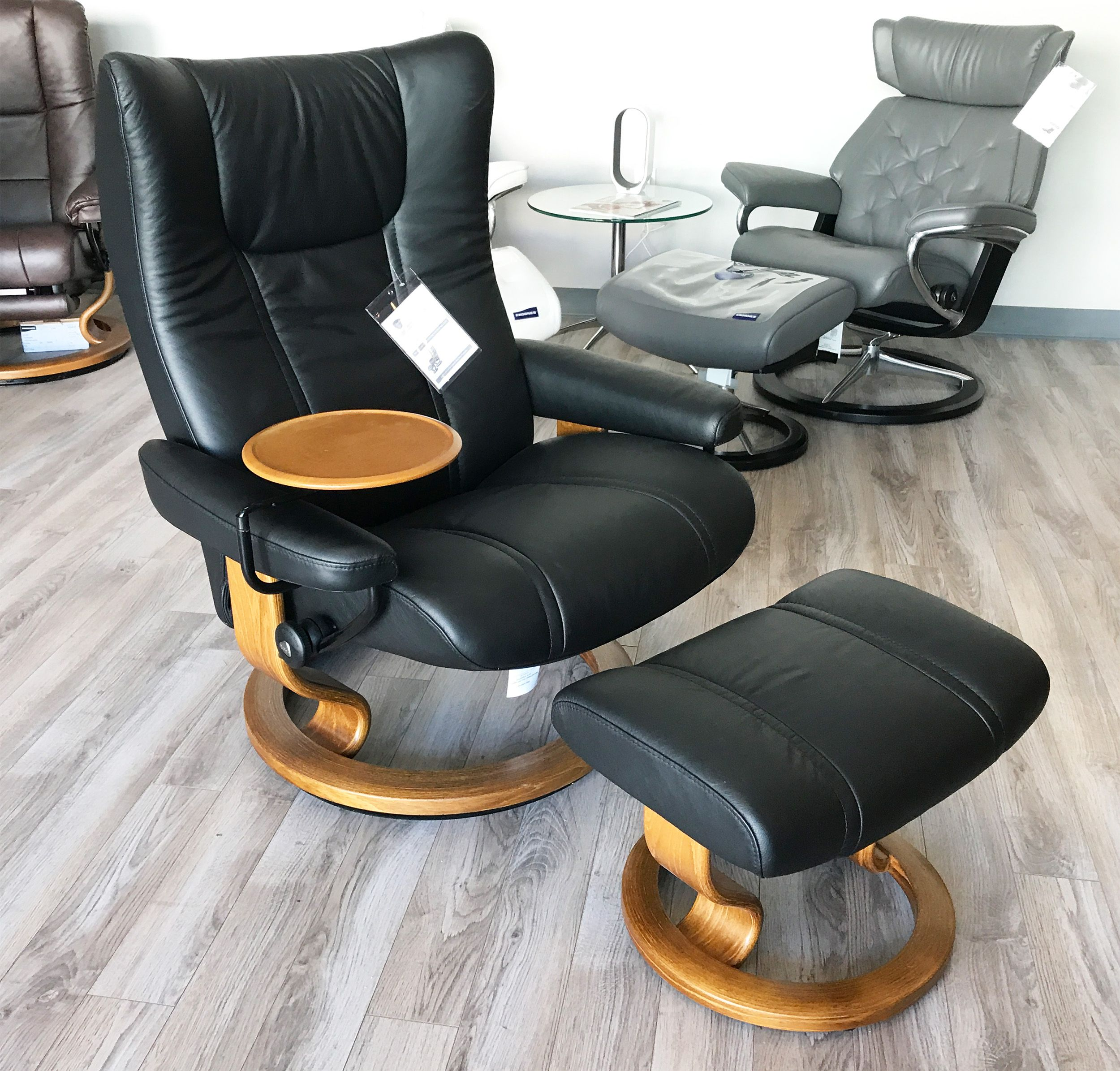 Small Chair With Ottoman: Small Leather Recliners With Ottoman