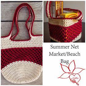 MNE Crafts: Summer Net Market/Beach Bag #crochet