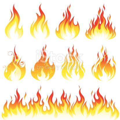 Various Fire Elements Tatuagens De Chama Fogo Desenho E Como