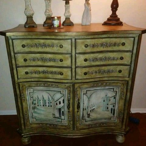 Made By Lexington Furniture. French Provincial Wine Bar Cabinet.