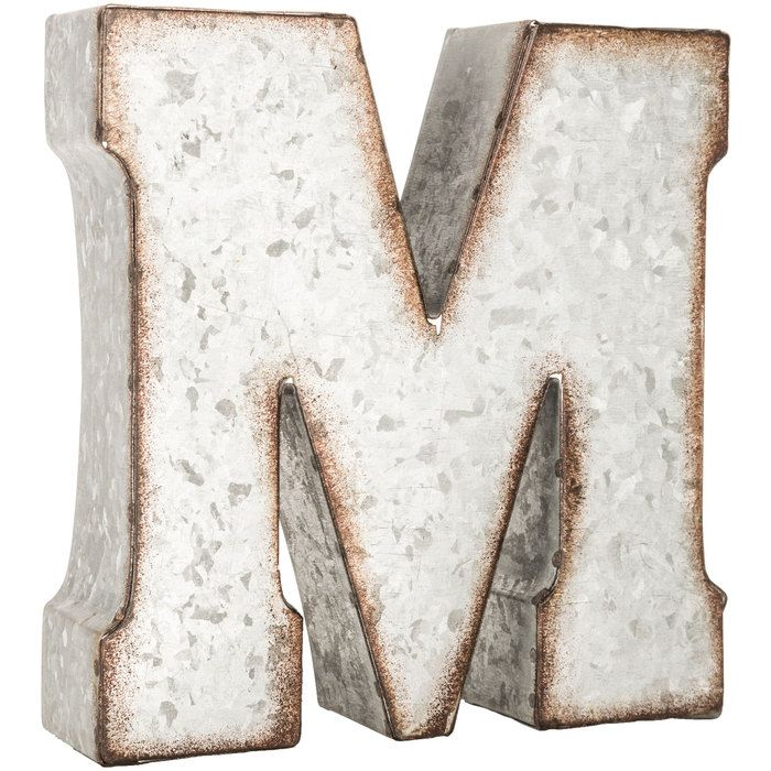 Small Galvanized Letter M