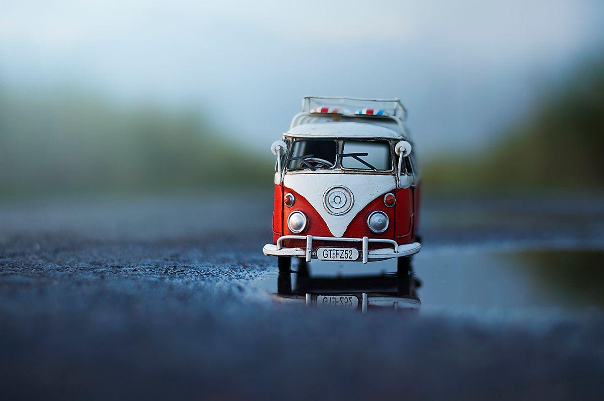Miniature Cars Series On Behance Minimalism In 2019 Miniature