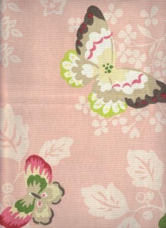Cute pink butterfly fabric for upholstery.  Galliano Princess - www.BeautifulFabric.com - upholstery/drapery fabric - decorator/designer fabric