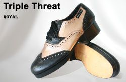 Miller /& Ben Tap Shoes; Triple Threat; All Black Medium Width Tap Shoe
