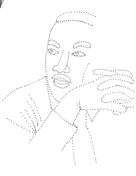 1 push pin art template of martin luther king jr print template on
