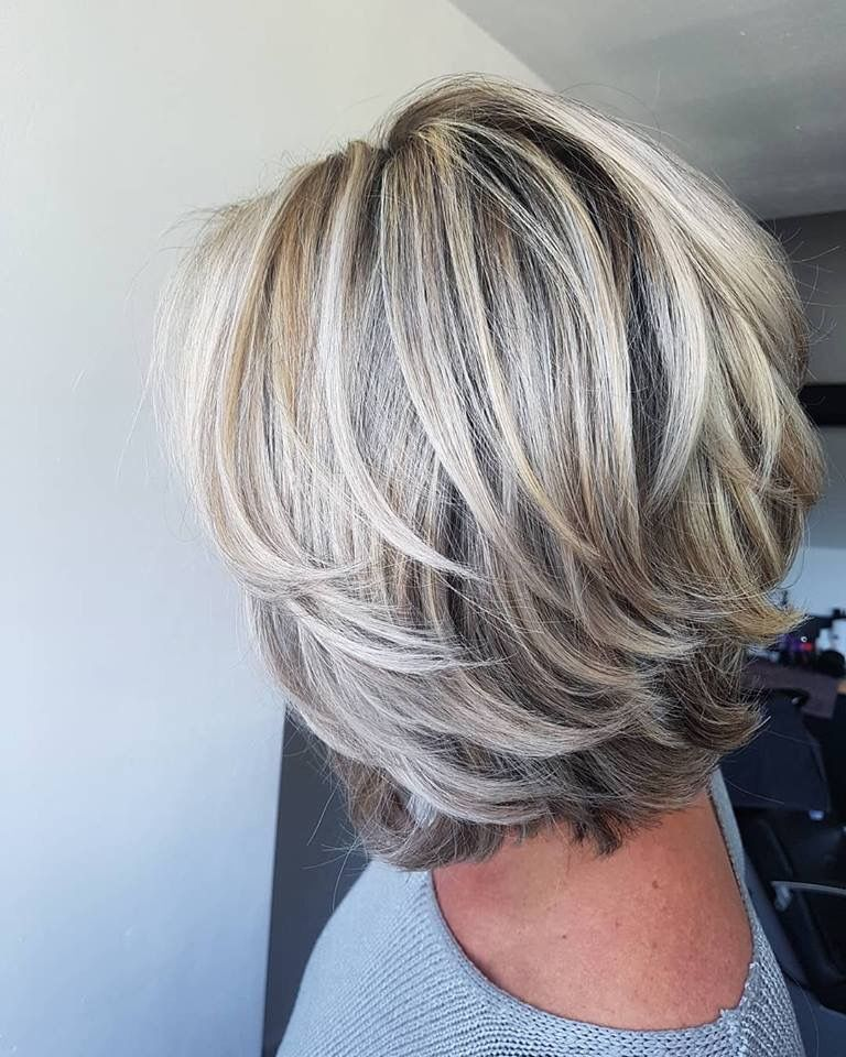 medium length haircuts for gray hair Gallery