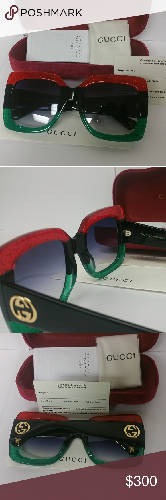54a542e4fc02 New authentic women oversized Gucci Sunglasses 💯authentic and new. comes  with full package. lens are crystalCrystal Ship out same day. Gucci  Accessories ...