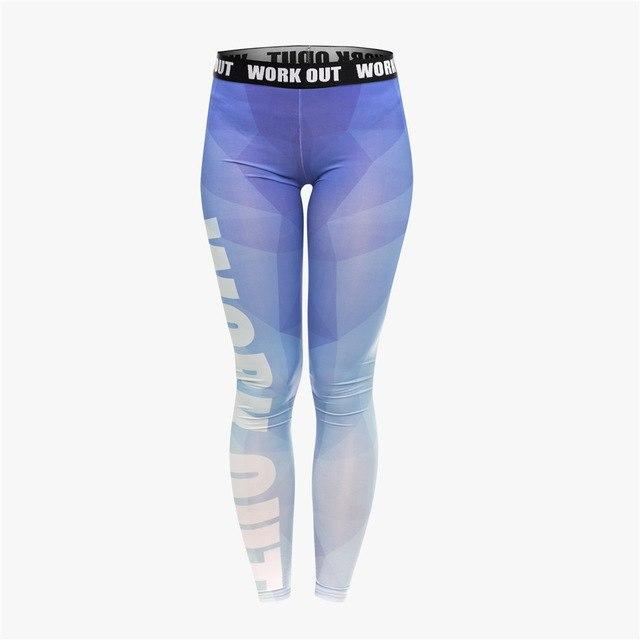 662ab54994 Triangle Blue Print Fitness Leggings in 2018 | Products | Leggings ...