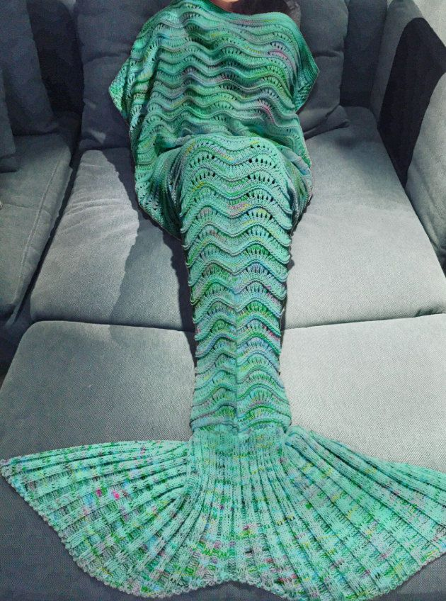 Manta de cola de sirena sirena de punto para por MERMAIDFOREVERR ...