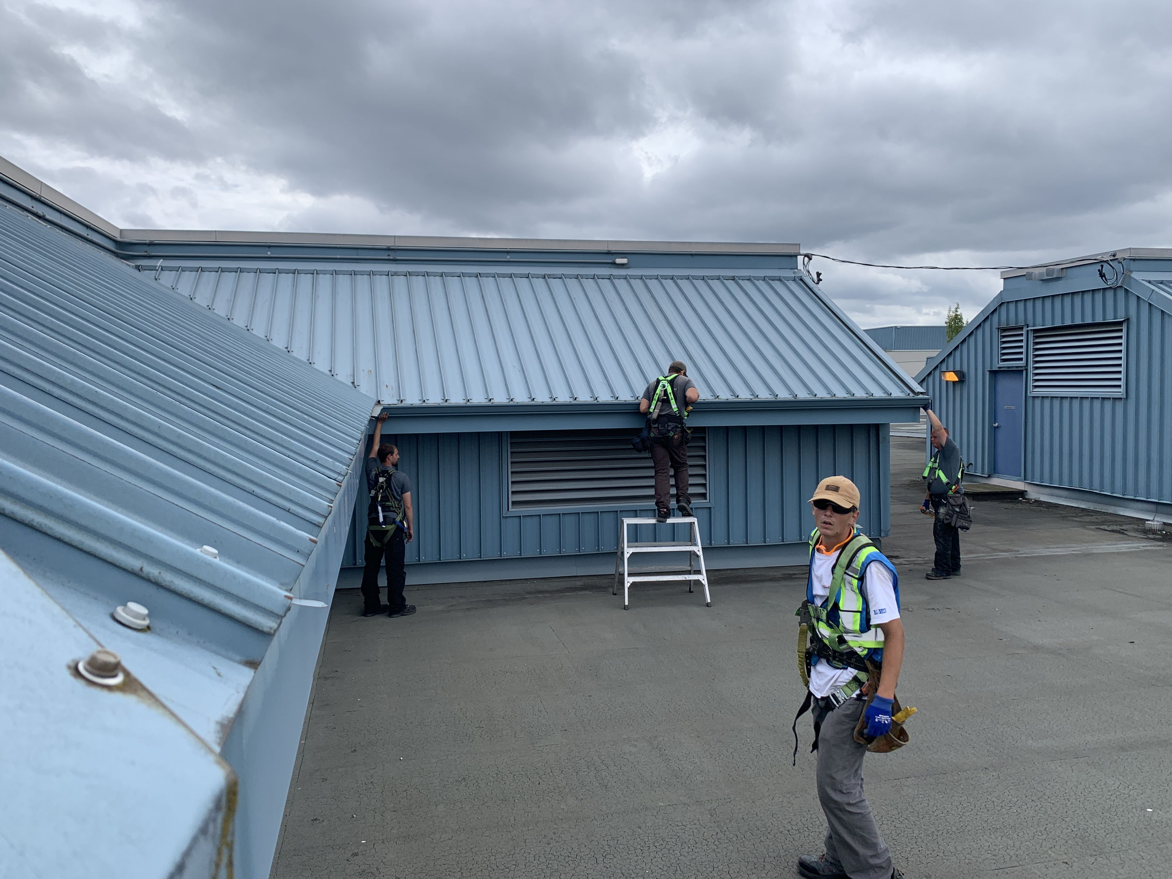 Installing 6 Gutters On This Commercial Build In Between The Rain Call Precision Gutters And Exteriors For Your Resid In 2020 Gutters Gutter Accessories Rain Gutters