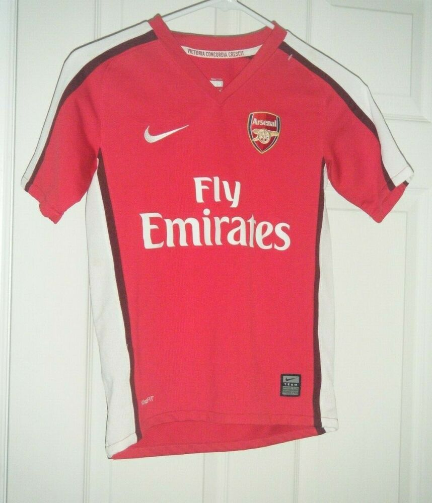 size 40 c67ac eb89a ARSENAL 2009 - 2010 Jersey Soccer / Football NIKE Red Size ...