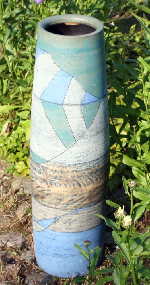 Edle Bodenvase Keramik Vase Höhe 67 cm Studiokeramik Kunstkeramik Skulptur