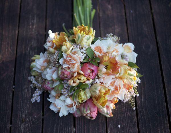 Tulip And Daffodil Bridal Bouquet