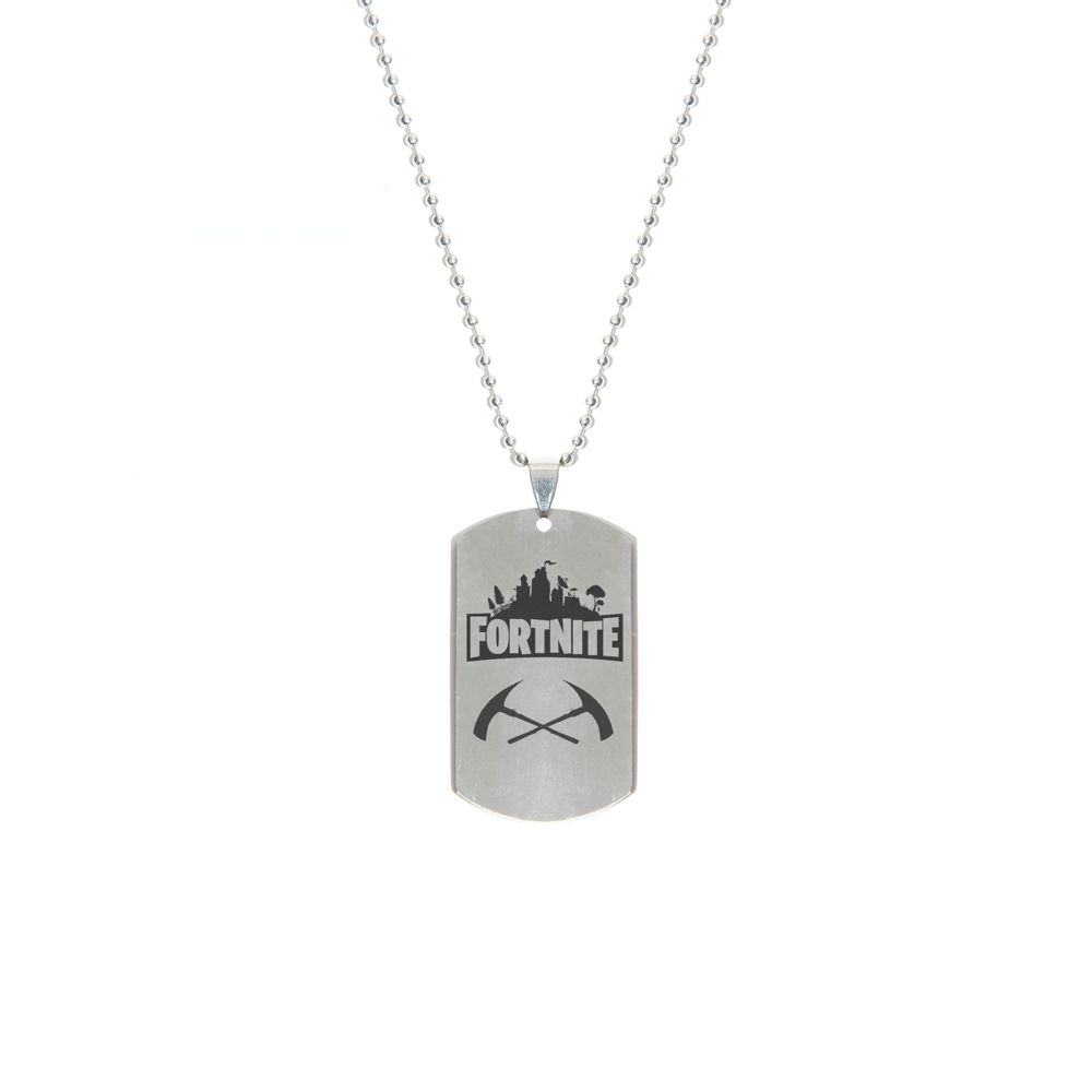 Hot Game Fortnite Battle Royale Weapon Necklace Stainless Steel Pendant Laser Printing High Quality Price 14 99 Stainless Steel Pendant Fortnite Pendant