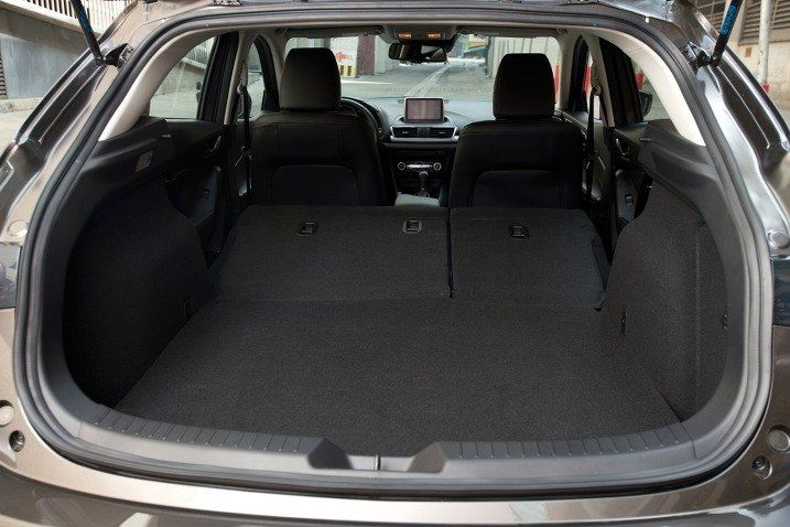 2016 mazda 3 hatchback cargo space