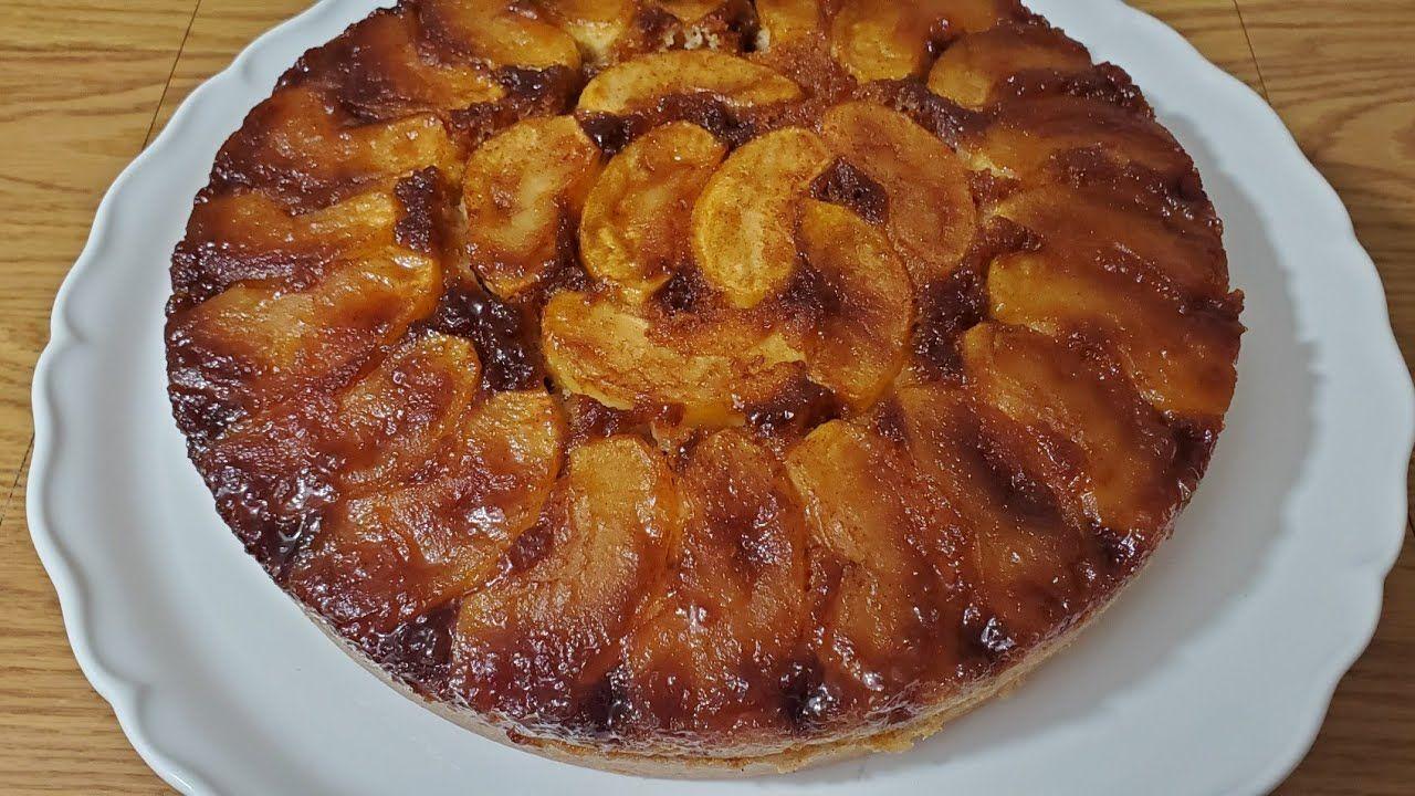 طريقة تحضير كيك التفاح بالقرفة المقلوب Best Upside Down Apple Cinnamon Cake Recipe Youtube Apple Cake Recipes Middle Eastern Recipes Desserts