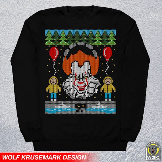 Ugly Christmas Sweateritpennywise The Clownholidaysweaterunisex