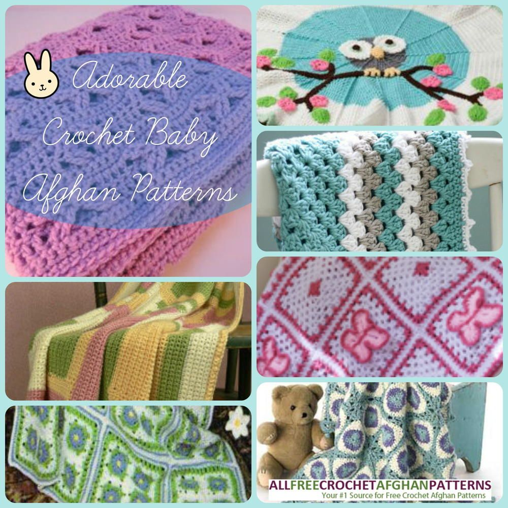 34 Adorable Crochet Baby Afghan Patterns | Baby afghan patterns ...