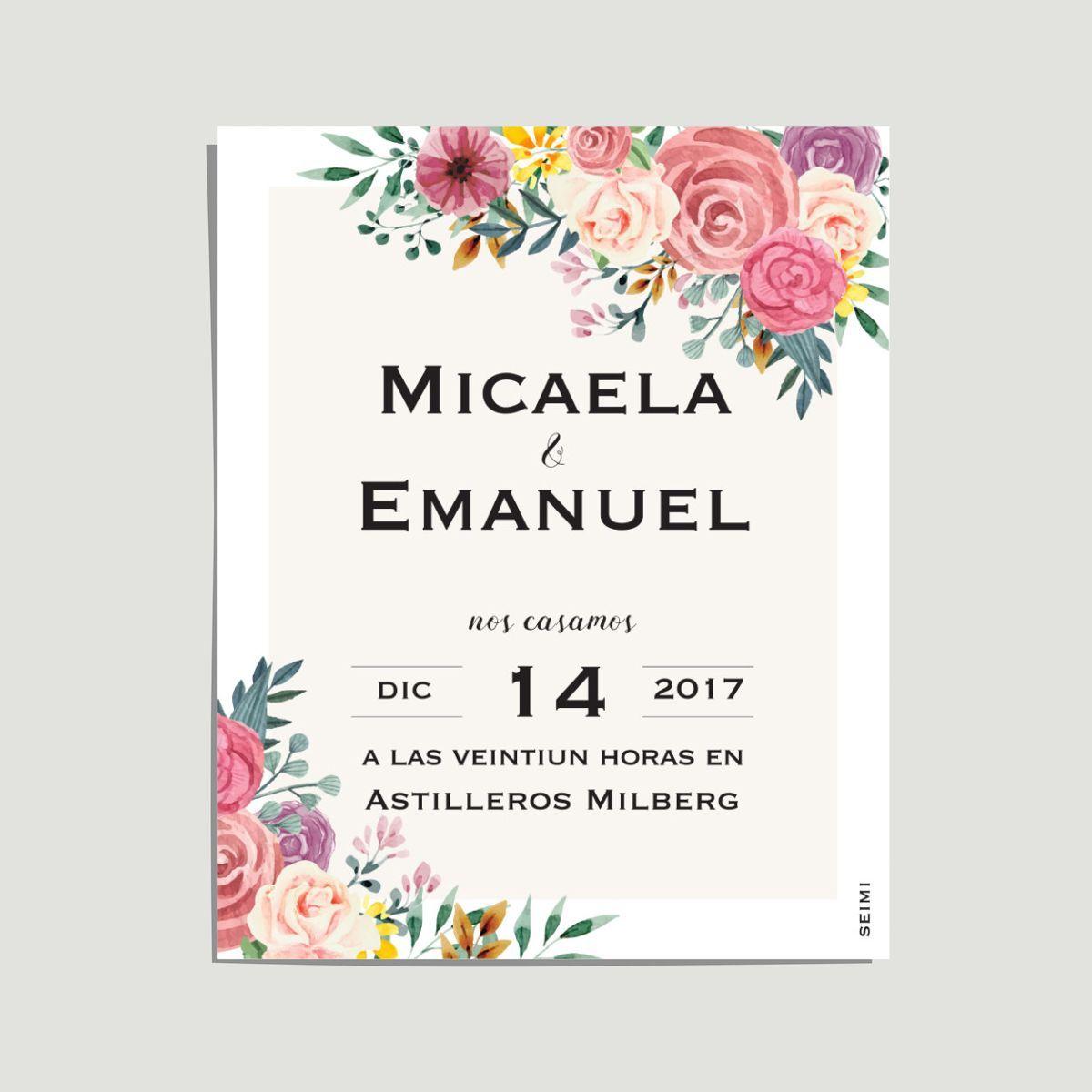 Invitaciones De Casamiento Tarjetas Digitales Con Sitio Web