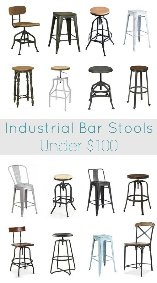 Industrial Bar Stools Under 100 Home Decor Ideas