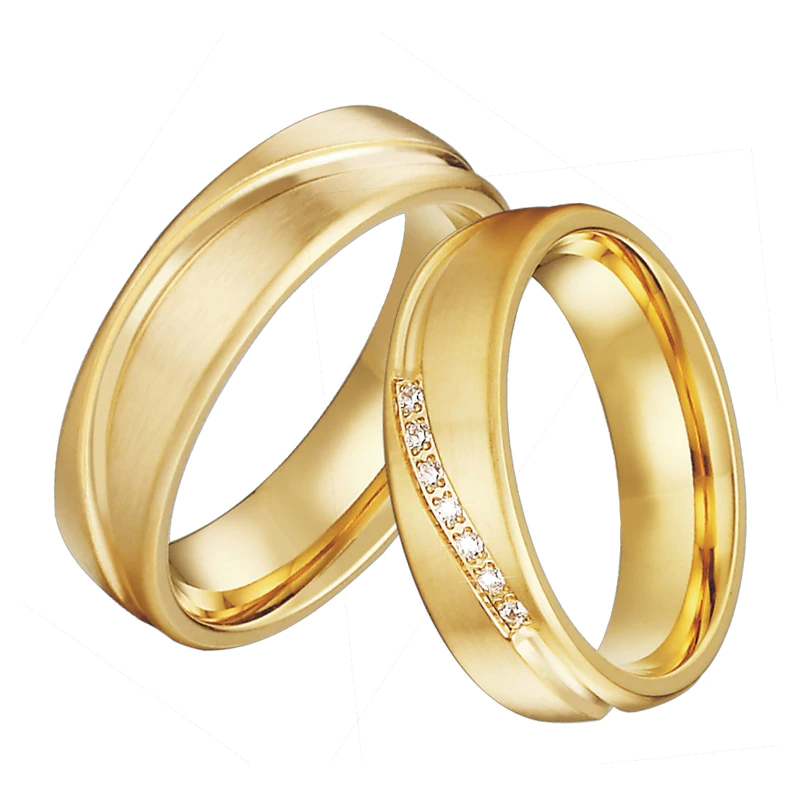 Handmade Love Alliances Promise Wedding Band Engagement Rings For Couples Men And Women Gold Color 2020 Lates In 2020 Engagement Rings Couple Jewelry Wedding Ring Sets
