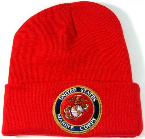 a66118ac9e8 US MARINE CORPS KNIT SKI CAP SKULL CAP RED CUFFED .  5.49. Official  Licensed US