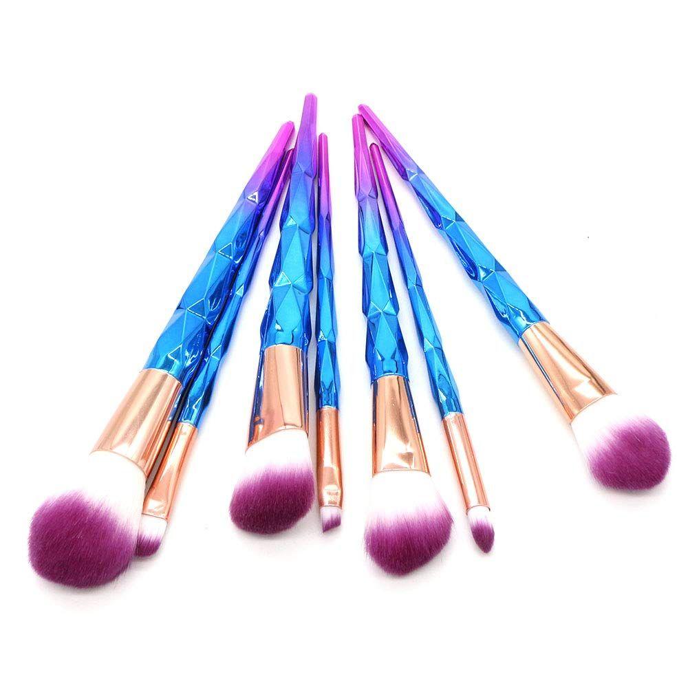مجموعة فرش مكياج من 7 قطع من ستيلاير تشيرن فرش تجميل اصطناعية واحترافية بودرة خدود لمزج كريم الأساس اي In 2020 Unicorn Makeup Brushes It Cosmetics Brushes Brush Kit