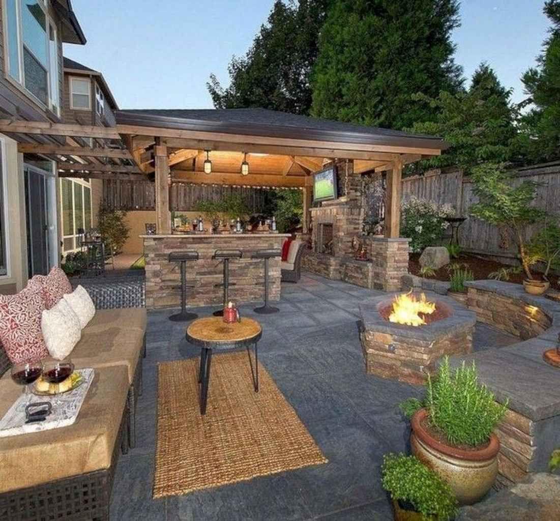 55 Amazing Outdoor Kitchen Design For Your Summer Ideas In 2020 Backyard Patio Patio Design Backyard Patio Designs