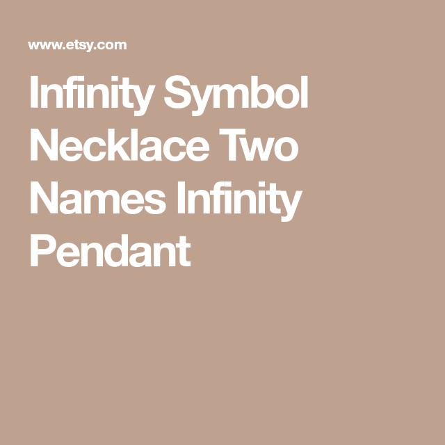 Infinity Symbol Necklace Two Names Infinity Pendant Infinity
