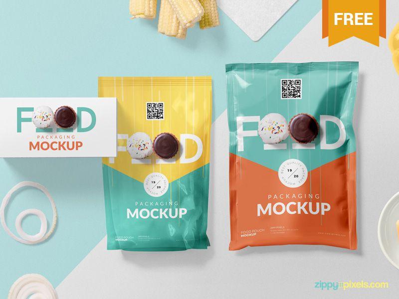 Free Food Packaging Mockup Psd Packaging Mockup Food Packaging Food Packaging Design