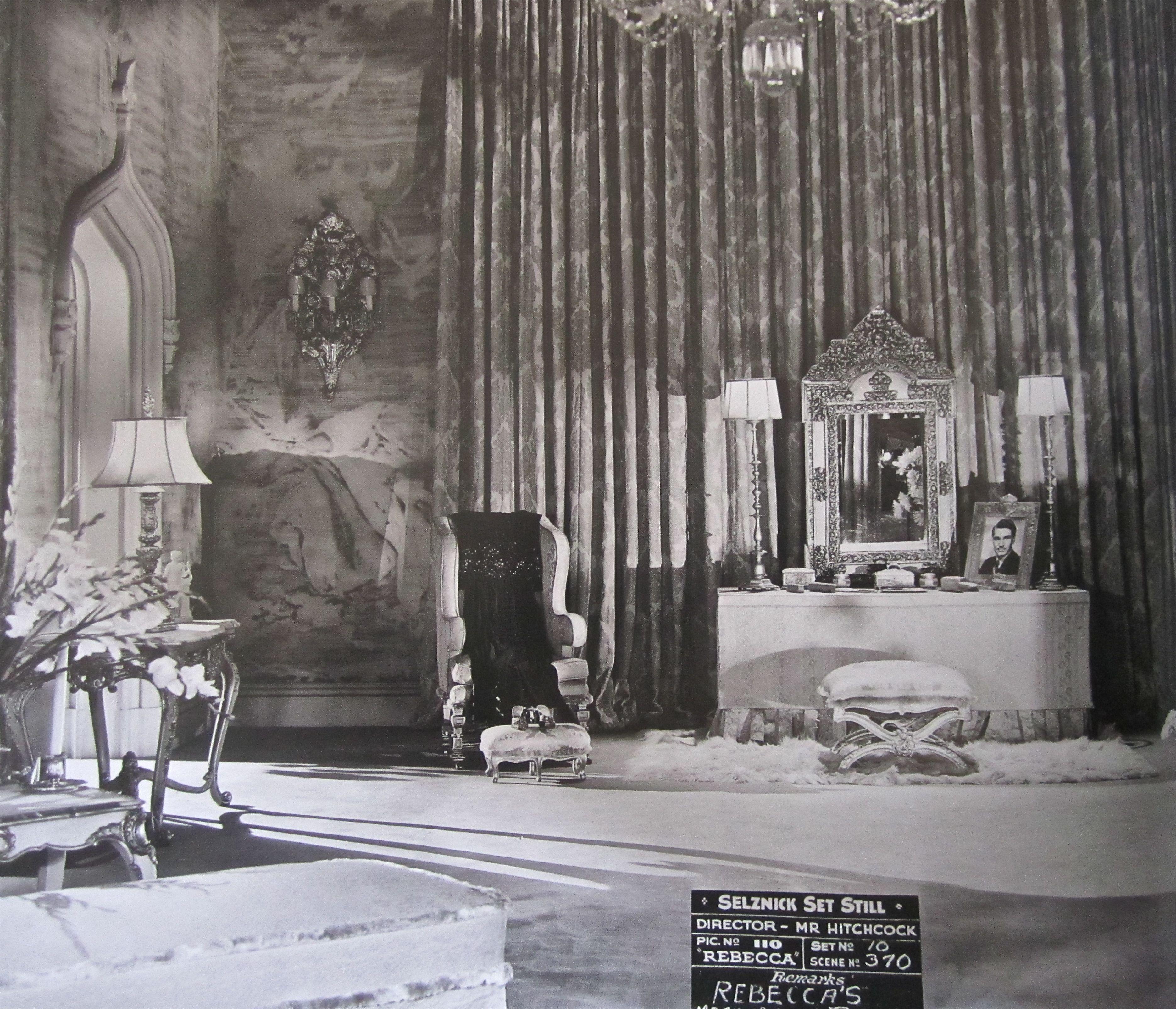 "Set Of Hitchcock's ""Rebecca"" 1940"