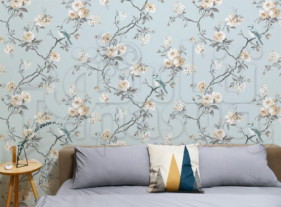 جزء من الصالة لنفس الشقة مع اضافة ورق حائط ثرى دى Home Decor Home Decor