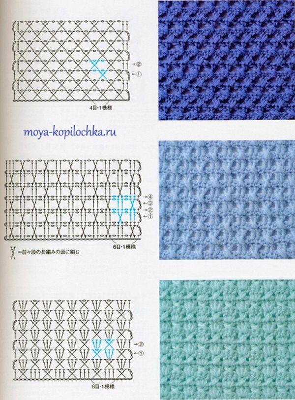 Colección de patrones y motivos, los de punto | Luvly crochet ...