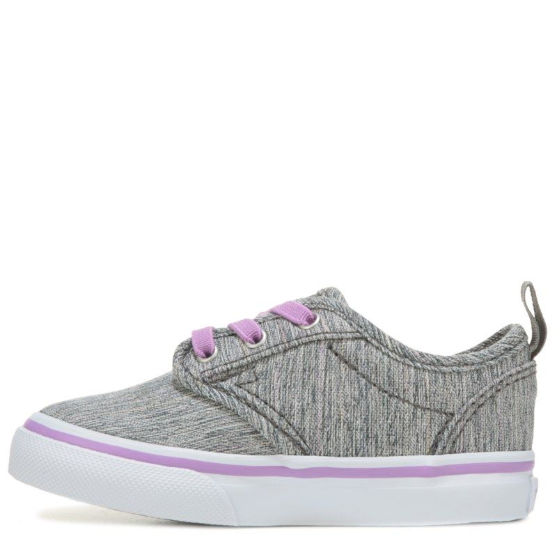 11293db508 Vans Kids  Atwood Slip-ON Sneaker Toddler Shoes (Grey Purple Textile) -  10.0 M