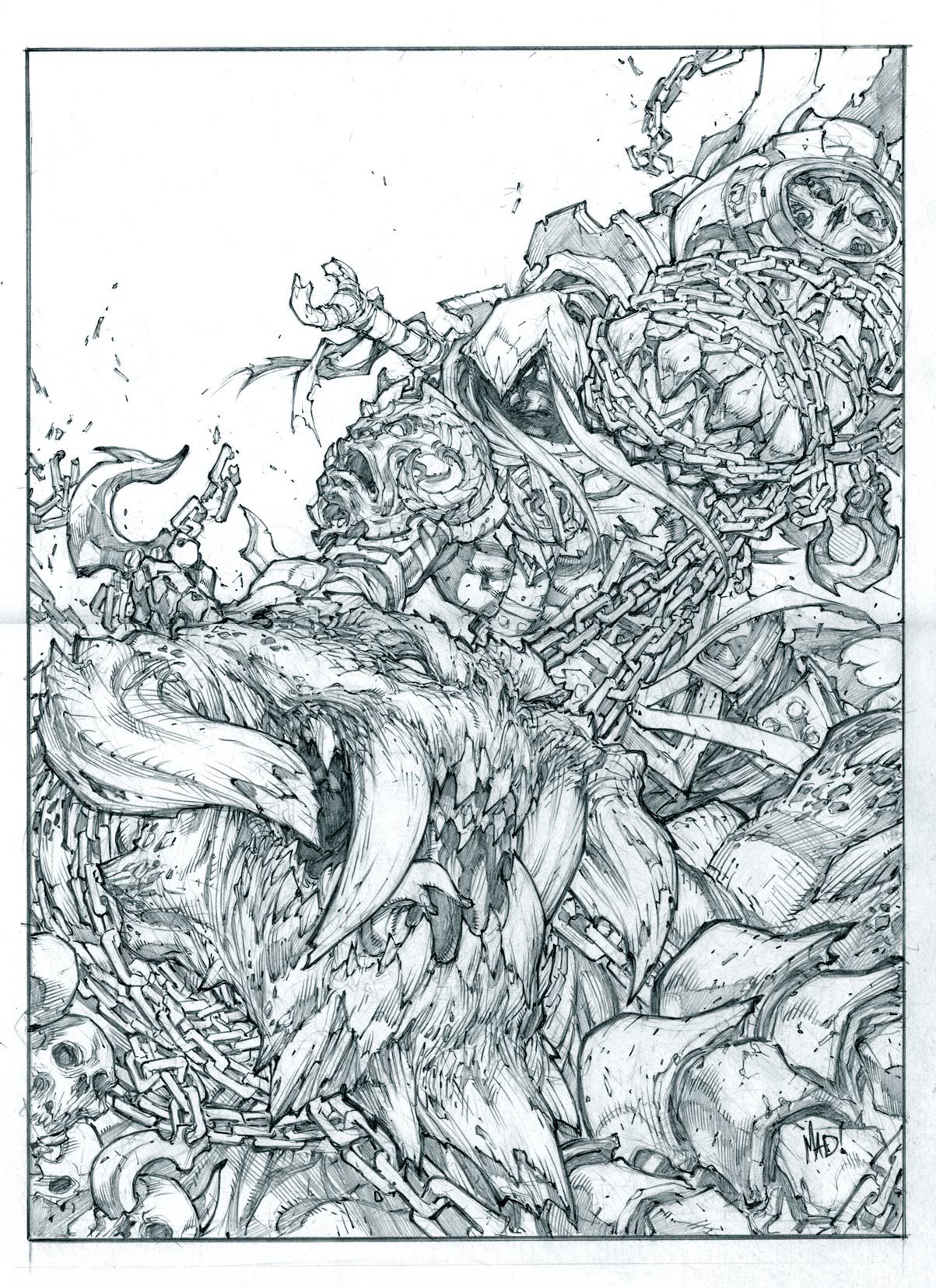 Darksiders Joe Madureira M Comic Art Community Gallery Of Comic Art Joe Madureira Comic Art Line Art Drawings