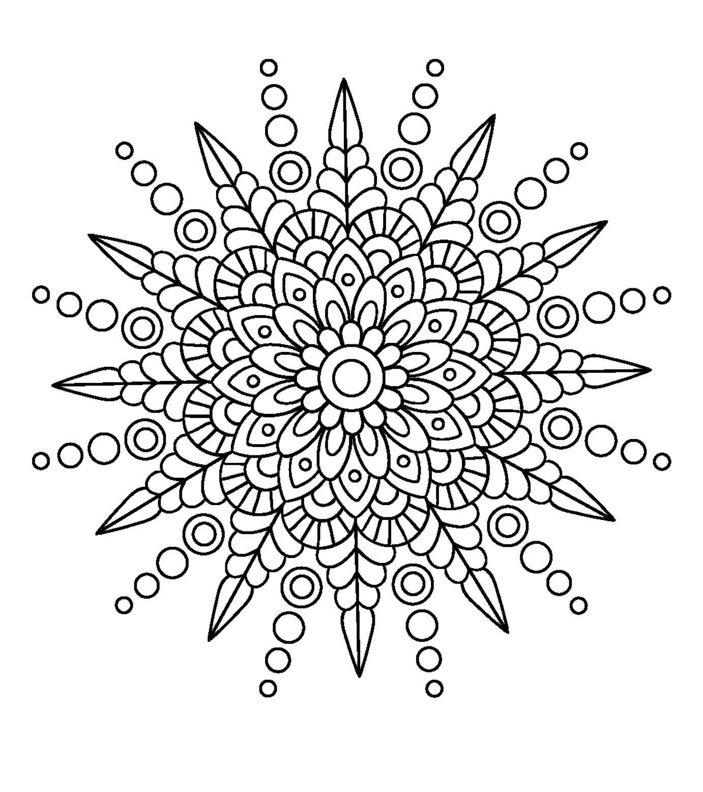 Spikey Mandala Simple Mandala Mandala Coloring Pages Mandala Drawing