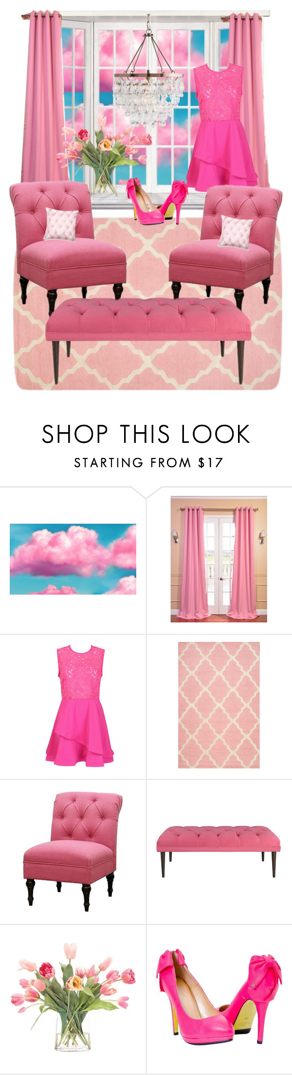 """Pink Out 💕💕"" by lulala002 ❤ liked on Polyvore featuring EFF, nuLOOM, Threshold and NDI"