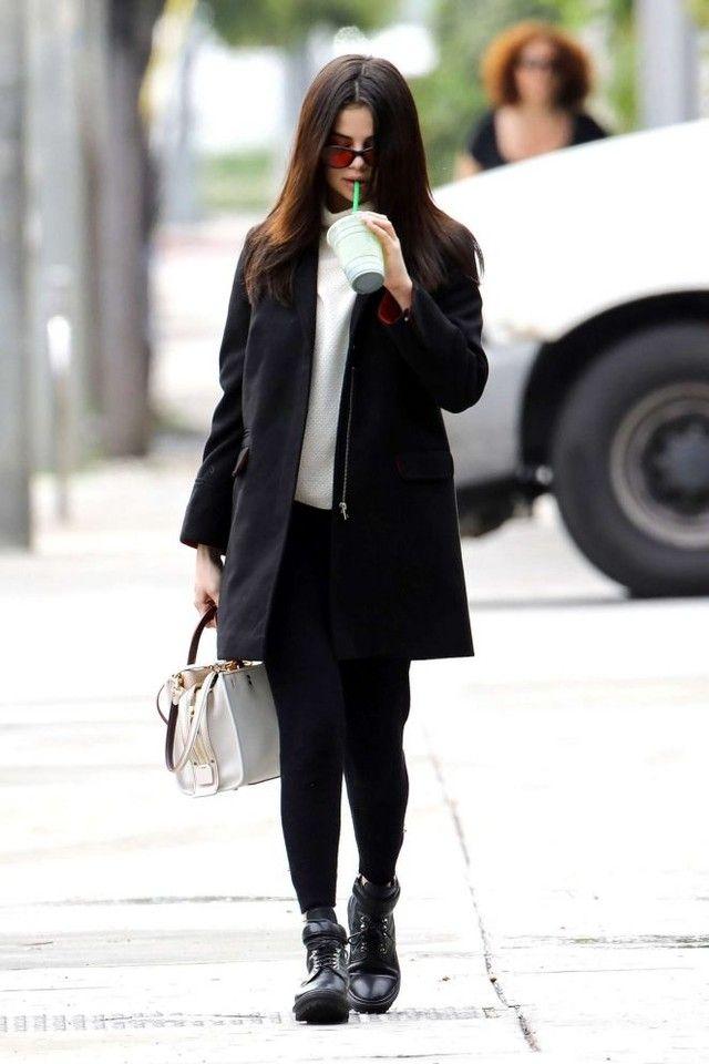 1cbeb765e2d2 Selena Gomez wearing Topshop PETITE Slim Fit Coat