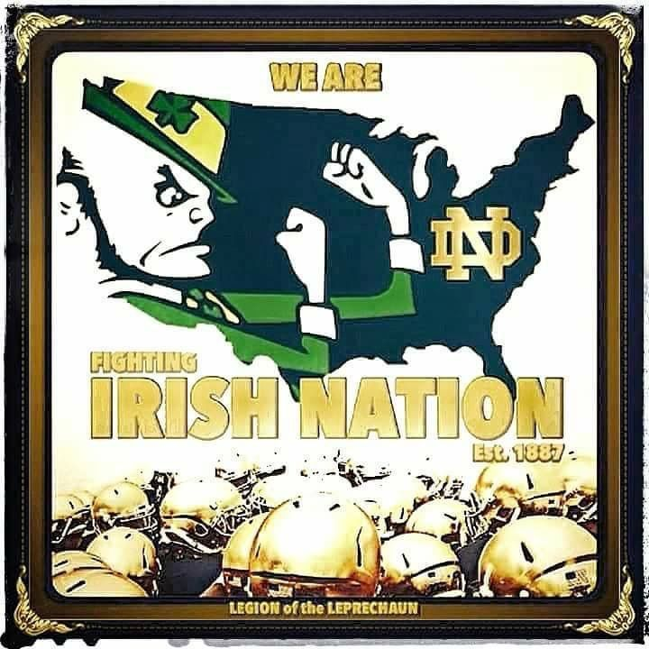 Pin By Monica Robledo On Go Nd Norte Dame Fighting Irish Notre Dame Fighting Irish Go Irish