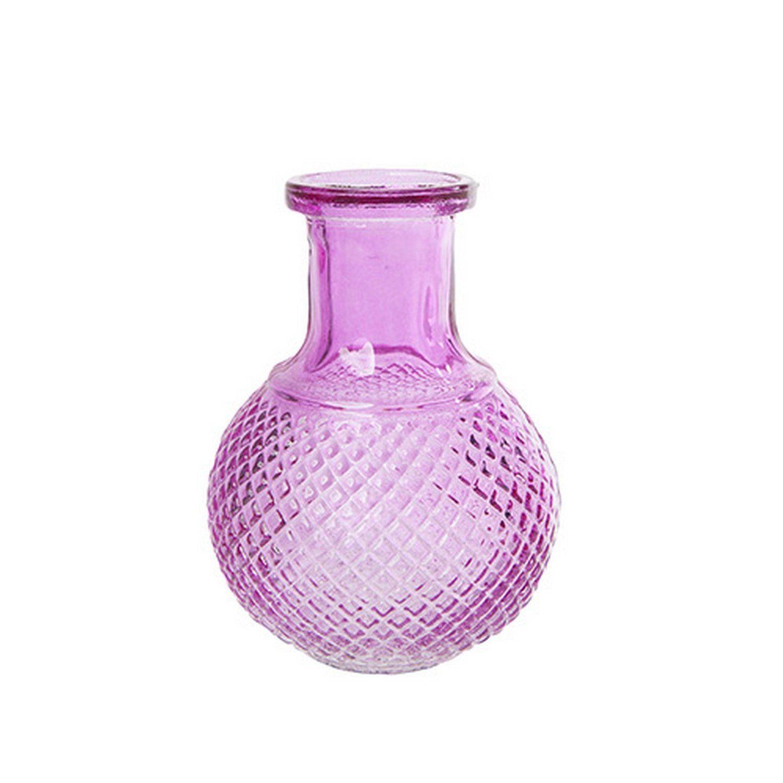west5products Purple Decorative Ornate Brightly Coloured Bottle Flower Vase H16cm: Amazon.co.uk: Kitchen & Home
