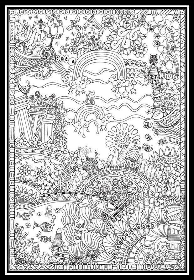 dibujos-para-colorear-paisajes-naturales | ColoreARTE | Pinterest ...