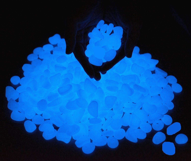 Leuchtsteine StillCool 100 Stueck Künstliche Kieselstein Leuchtende Kiesel  Aquarium Floureszierende Pebbles Stein Garten Gehweg: Amazon