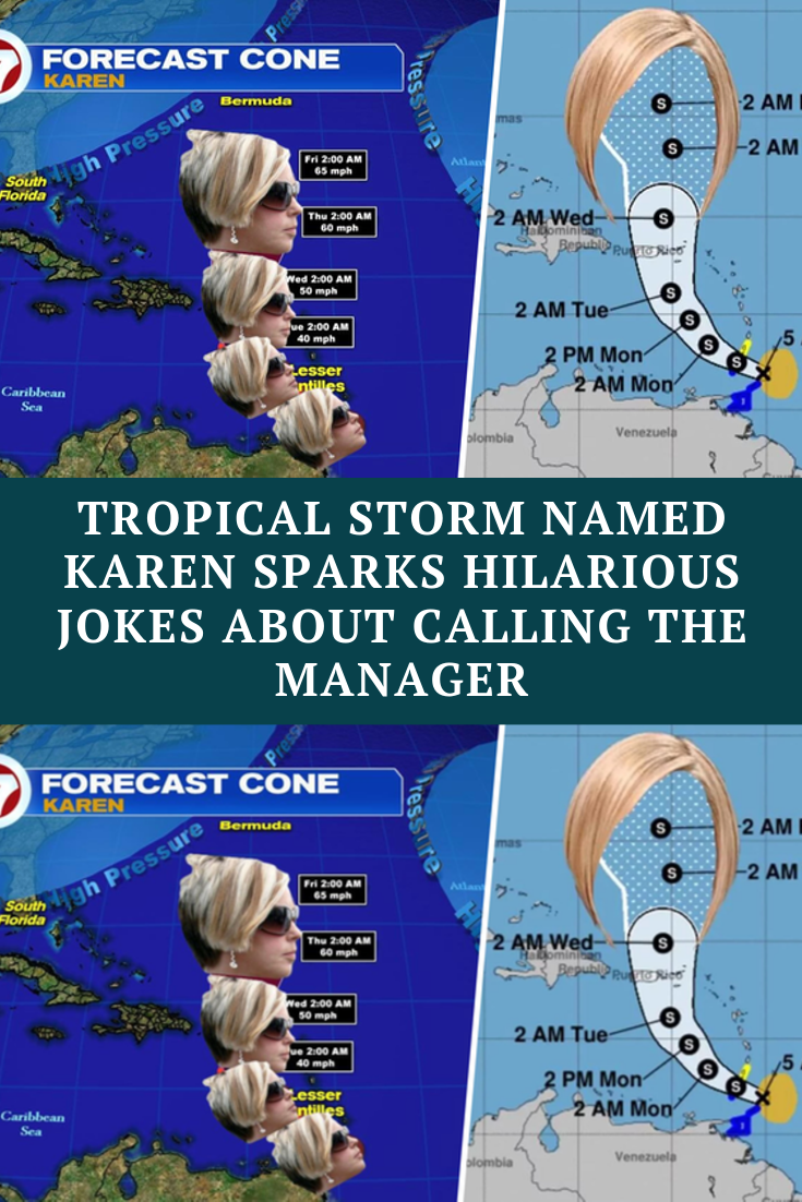 Tropical Storm Named Karen Sparks Hilarious Jokes About Calling The Manager Funny Jokes Funny Comedy Funny